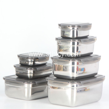 Stainless Steel Rectangle Shape Food Container Lunch Box